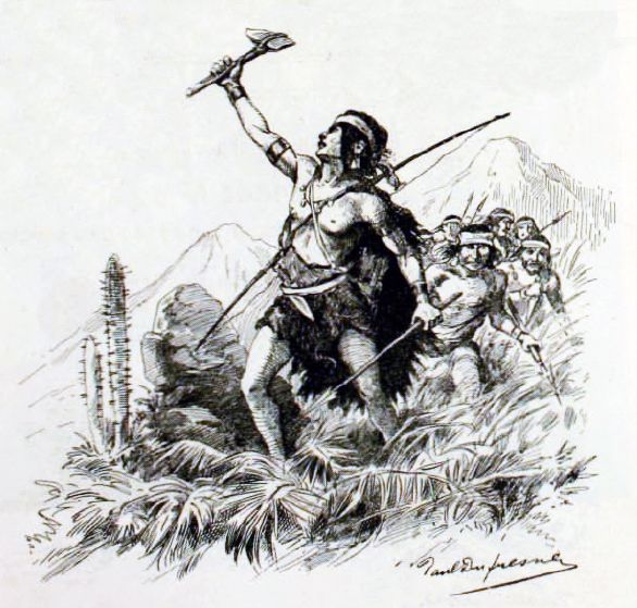 Hacia 1550, en su condición de indio sirviente, Lautaro observó los duros castigos que los españoles infligieron a los indígenas en las batallas de Andalién y Penco. Decidió abandonar a los españoles y en diciembre de 1553 apareció como el principal líder en la Batalla de Tucapel, primer levantamiento indígena de importancia en Chile