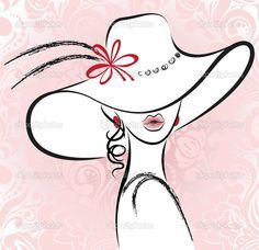 siluetas de mujeres con sombrero - Buscar con Google