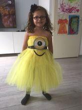 2015 minion tutu jurk kostuum minion weinig minion verjaardag jurk