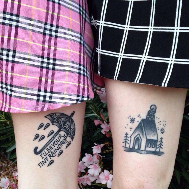 """I'll be your tiny raindrop"" balance & composure lyric tattoo black and gray"