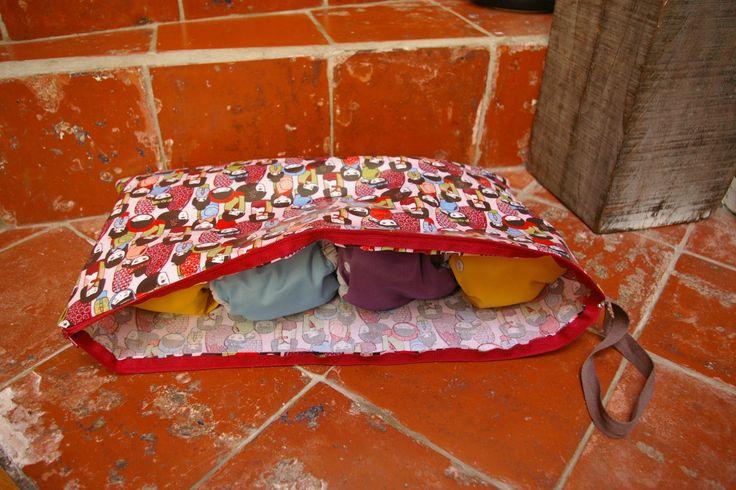 sac à couches lavables toile enduite