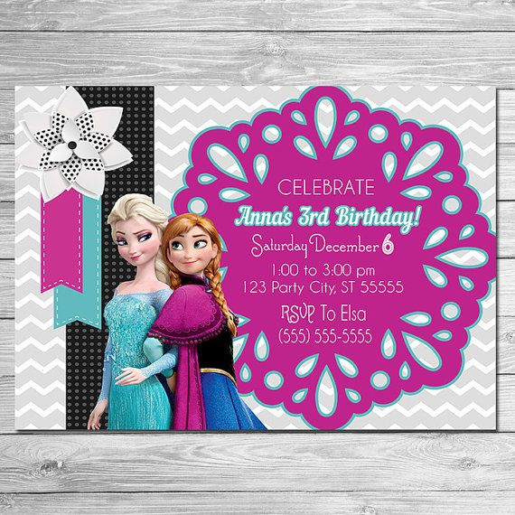 46 best frozen party printables images on pinterest frozen party items similar to on sale frozen invitation pink black anna elsa invite frozen birthday party first birthday invite elsa invite on etsy stopboris Gallery