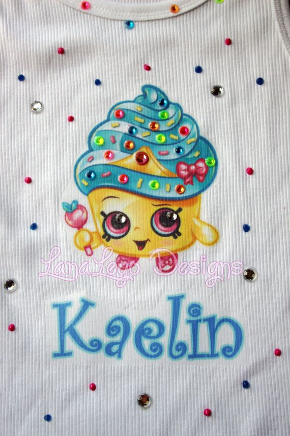 NEW Shopkins inspired Cupcake Queen Tank with name by LanaLego
