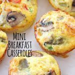 Mini Hashbrown Bacon and Veggie Breakfast Casseroles – Perfect for a brunch!