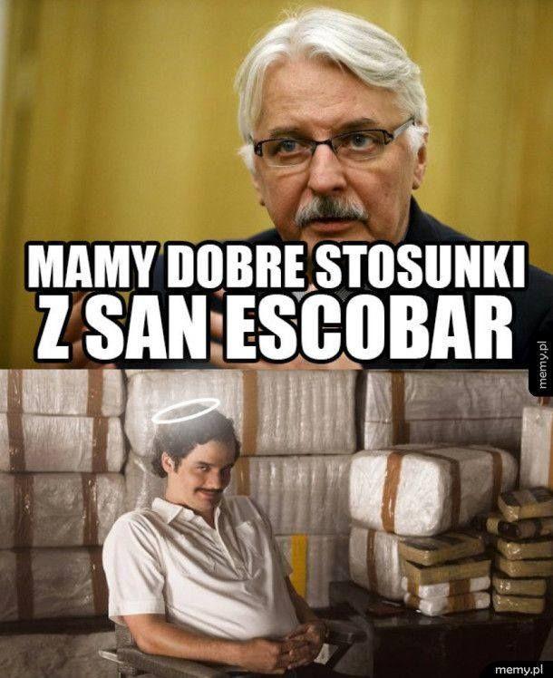 San Escobar: internauci tworzą memy