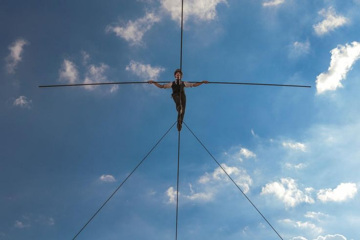 Hire wire walker Chris Bull 'Bullzini'