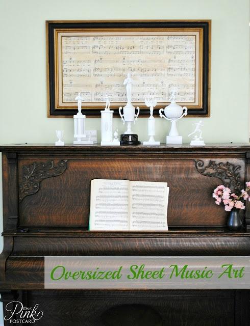 *PinkPostcard.*: oversized sheet music art
