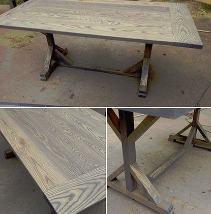 The ash custom ash wood farm dining table furniture for Dining table nashville tn