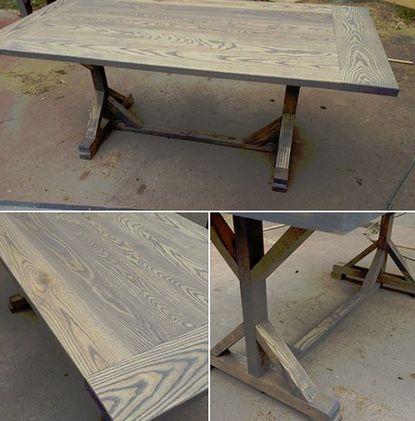 The Ash Custom Ash Wood Farm Dining Table Furniture