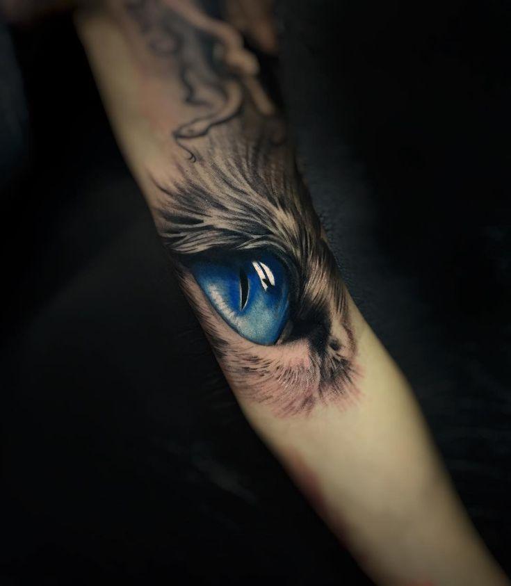 Eye tattoo by Daniel Bedoya