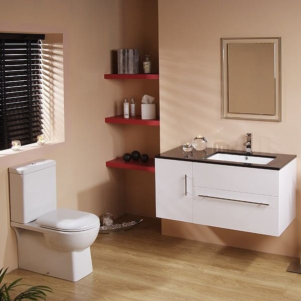 Pics On Modena Eden Furniture Pack Contemporary style cm vanity unit and toilet creating a modern
