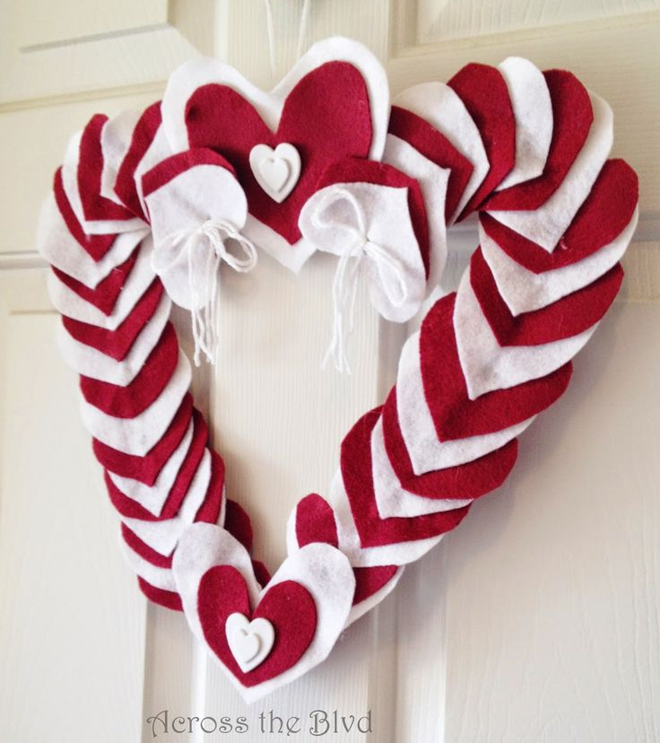 Felt Valentine's Heart Wreath