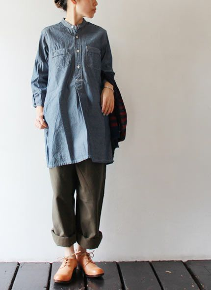 FWK by ENGINEERED GARMENTS - Long Banded Collar Shirt