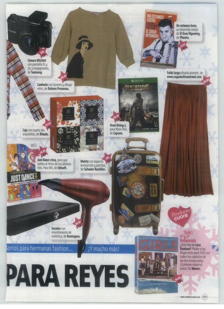 Falda Granate Ellen Soyunachicanormal en la revista Cuore (edición especial por sus 400 números) (enero 2014)
