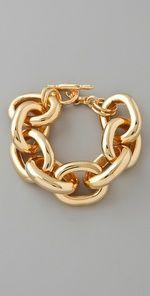 chunky gold toggle bracelet
