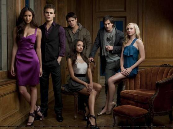 The Vampire Diaries, Elena Gilbert, Stefan Salvatore, Jeremy Gilbert, Damon Salvatore, Caroline Forbes, Bonnie Bennett.