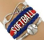 Softball Bracelet - Royal/Red