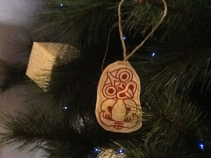 Tiki -for good luck Christmas kiwiana decoration