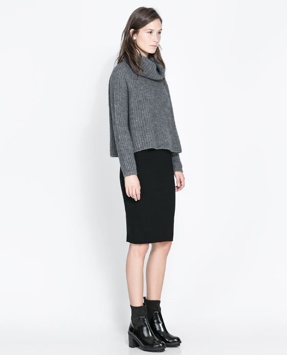 Syysmuodin suosikit: 1. Zara PENCIL SKIRT, Wide Turtle Neck Jersey