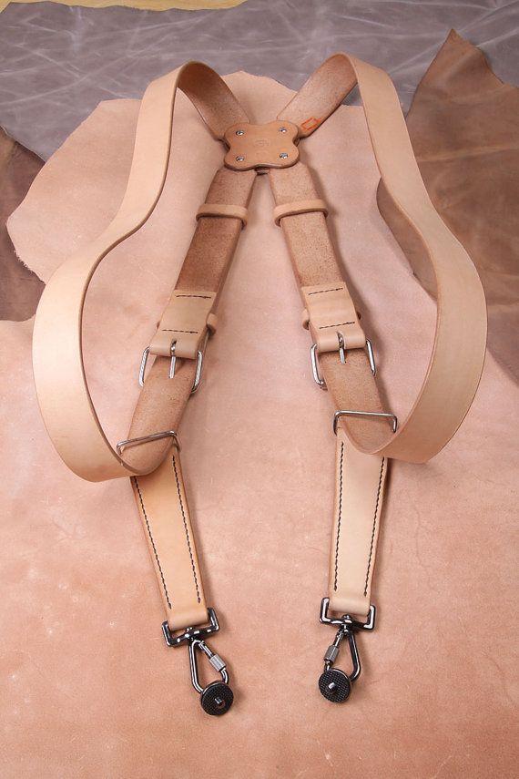 Multicamera strap double camera harness by MaciejFigielLeather