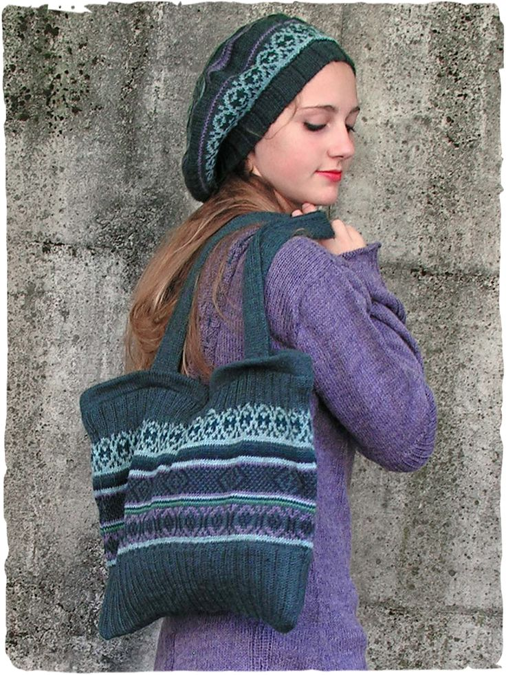 Basco e Borsa in alpaca #Wool rectangular #bag with hinge and lining -  #ethnic sketch.