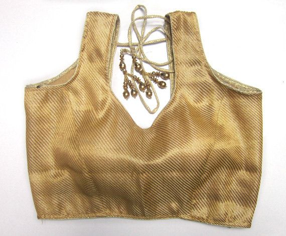 Readymade Saree Blouse golden/copper/silver color in chanderi, embellished Sari blouse, All Sizes, Sari Blouse, Saree Top for women by JahanviFashionShop on Etsy