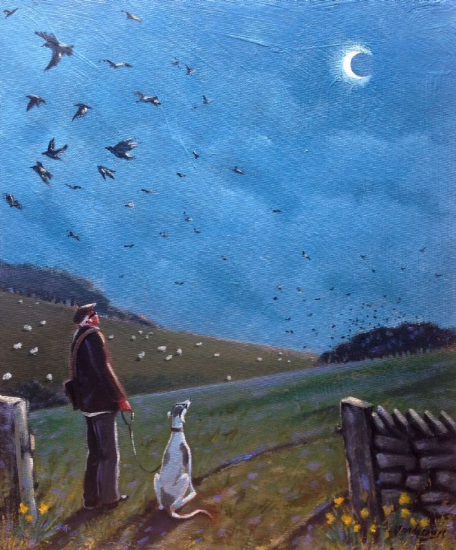 """""""Watching the Eclipse spectacle....through our Eclipse spectacles..""""  -  Steve Sanderson Blackpool Artist"""
