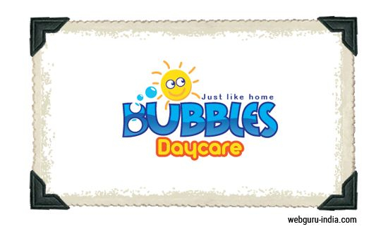 Bubbles Daycare Logo - Customized Letterforms  Learn more ► http://www.webguru-india.com/blog/top-8-trends-of-logo-design-in-2015/