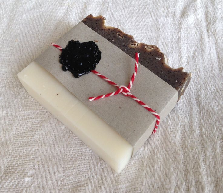 Soap wrapping coffee soap