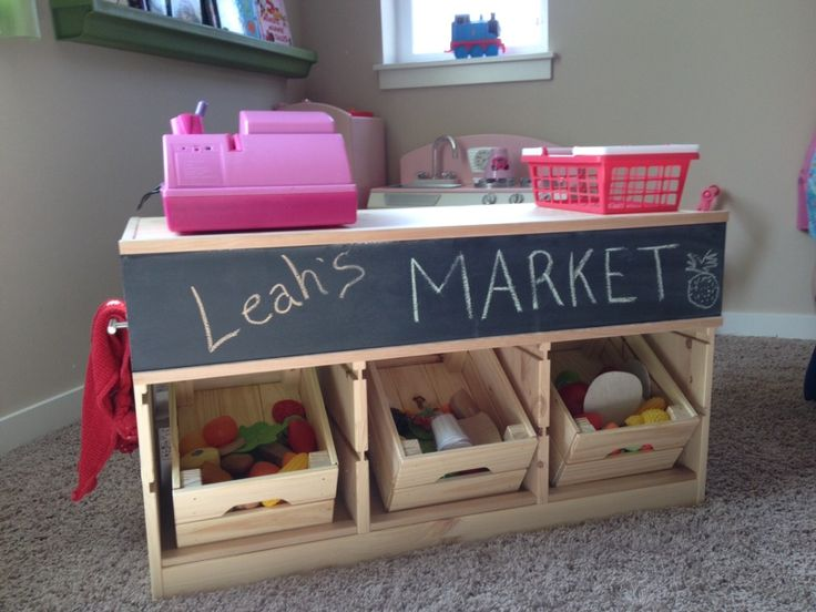 Un étal de marché pour enfant avec TROFAST - Bidouilles IKEA
