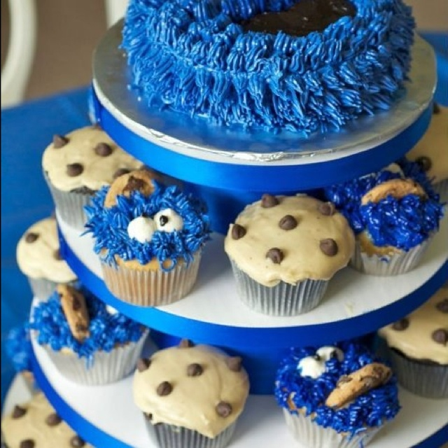cookie monster cupcakes cookie monster baby shower ideas cookie
