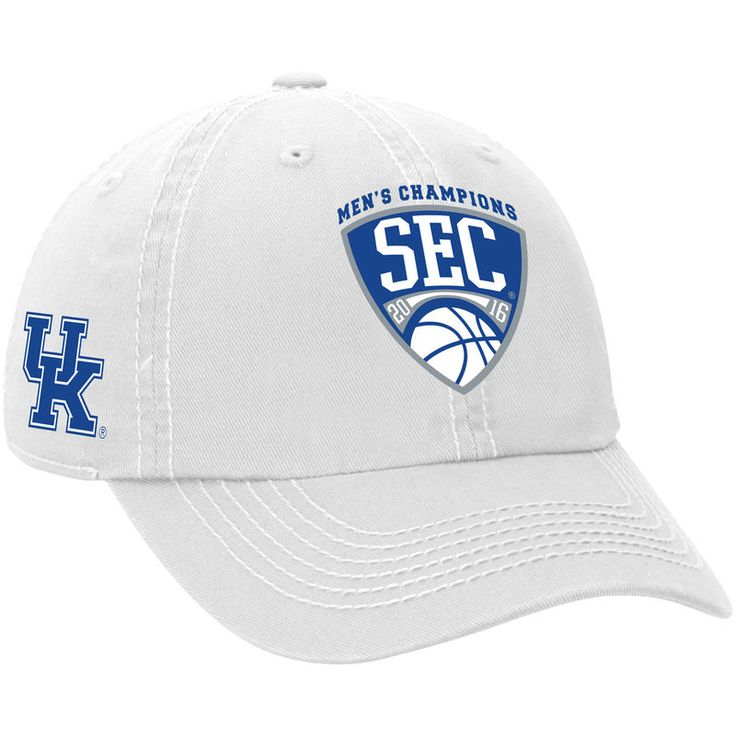 Kentucky Wildcats Top of the World 2016 SEC Men's Basketball Conference Champions Crew Adjustable Hat - White