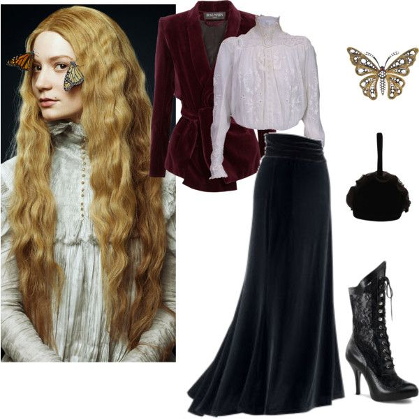 Indulge Your Dark Side with Crimson Peak : Contest Entry II by marika-pi on Polyvore featuring Mode, Balmain, Renaud Pellegrino and vintage