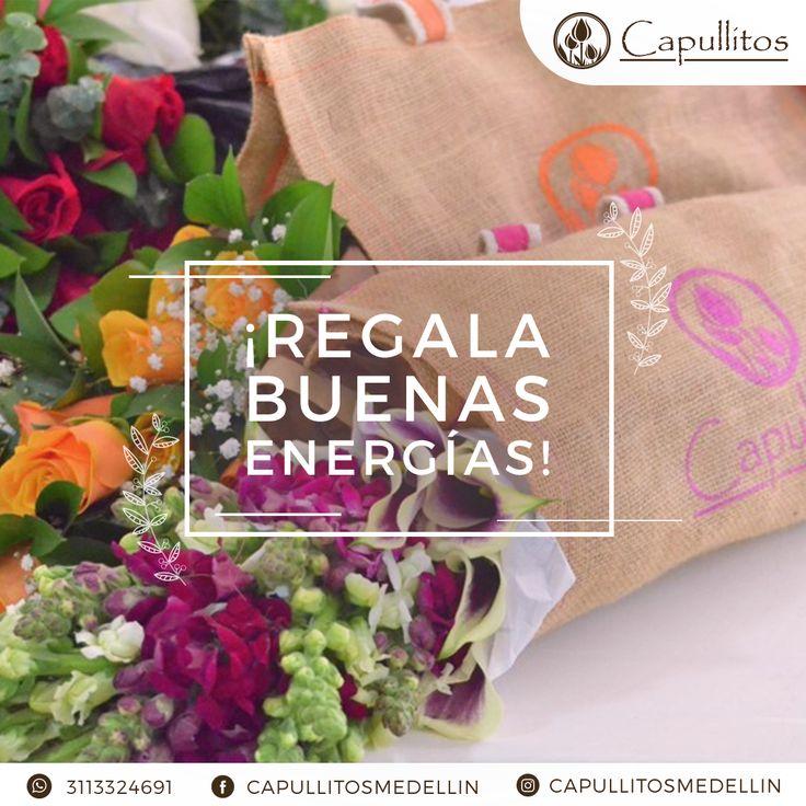 Flores con un empaque especial. Realizado por el taller floral Capullitos en Medellín - Colombia