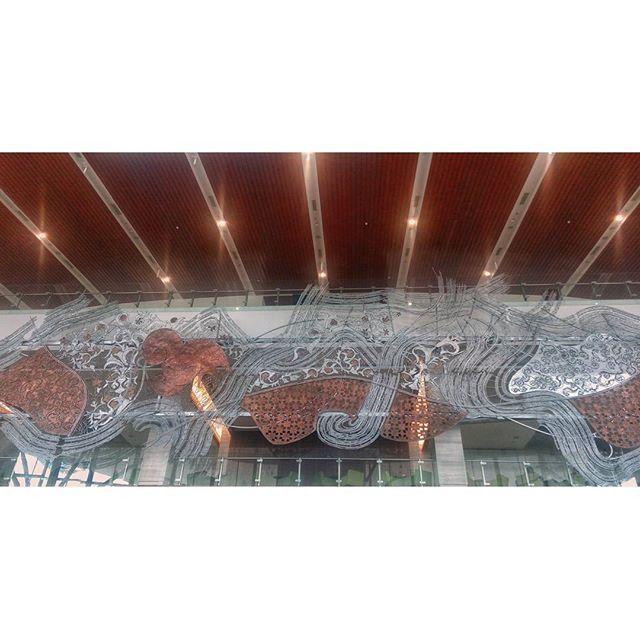 WEBSTA @ jakaanindita - Nusantara Hall #tbt #bsdcity #icebsd #architecture #relief #installation #love #instanesia #lobby #nusantarahall