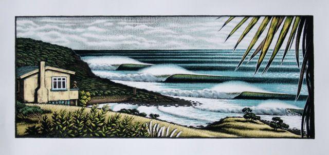 "Tony Ogle Print ""Indicators - Raglan"" for Sale - NZ Art Prints"