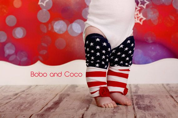 4th of july baby socks