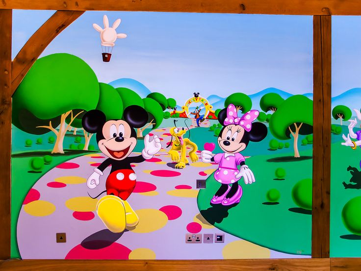 17 best images about mickey mouse 39 clubhouse bedroom mural on pinterest