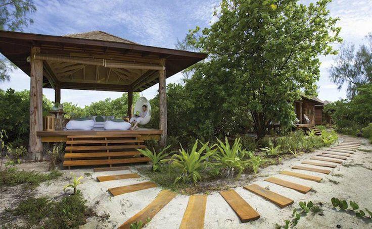 Relax in Desroches' unique luxury beach suites