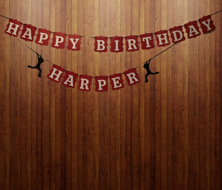 """Unique Custom Designed """"HAPPY BIRTHDAY"""" Banner with Iridescent Red and White Premium Cardstock by Inkspireve on Etsy"""