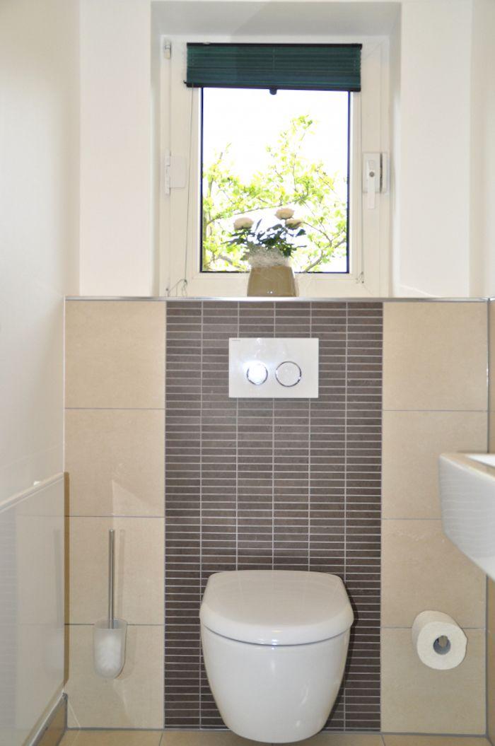 Quelle Couleur Pour Carrelage Wc, Faience Murale Pour Toilettes Beige Et  Anthracite