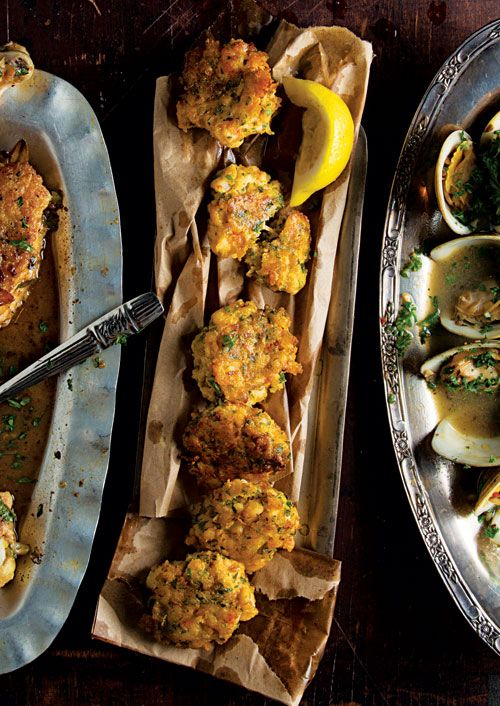Tortillitas de Camarones (Shrimp Fritters) - These crisp-edged fritters get their earthy flavor from chickpea flower.
