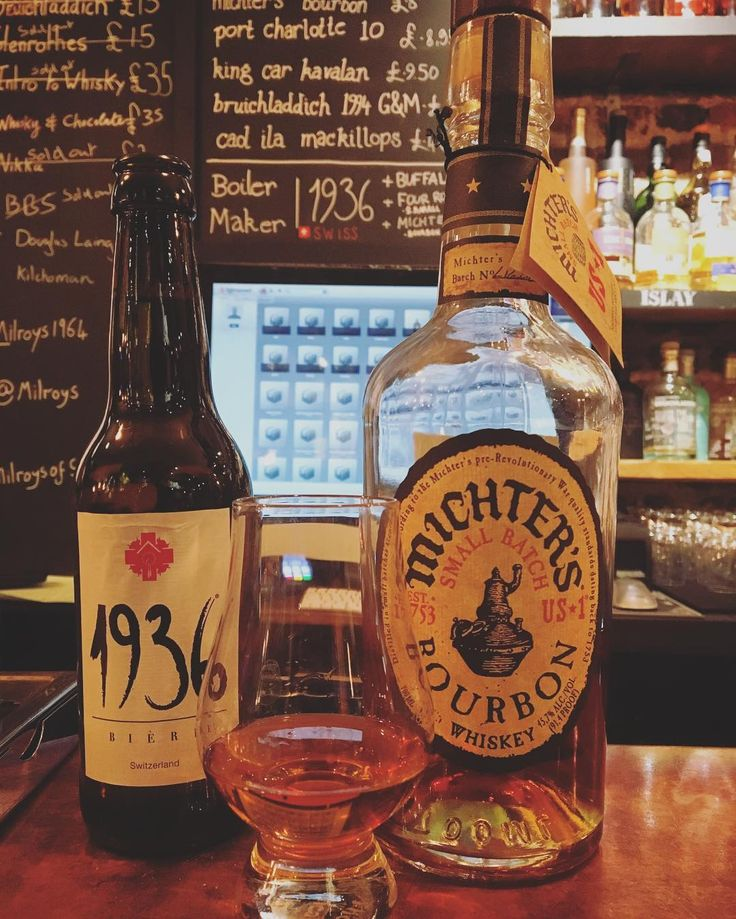 For The #bourbon Lovers Out Therewe Paired @1936biere Lager With  @michterswhiskey For A