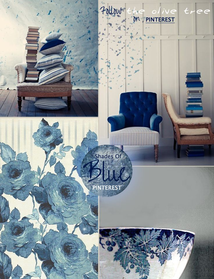 Shades of Blue mood board by The Olive Tree  inspiration