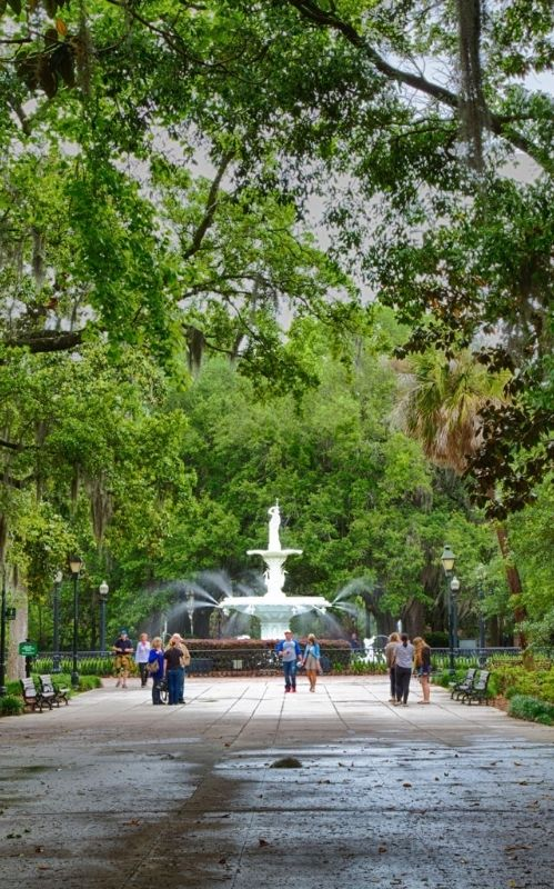Explore the charming parks and squares that occur every few blocks in Savannah's Historic District.