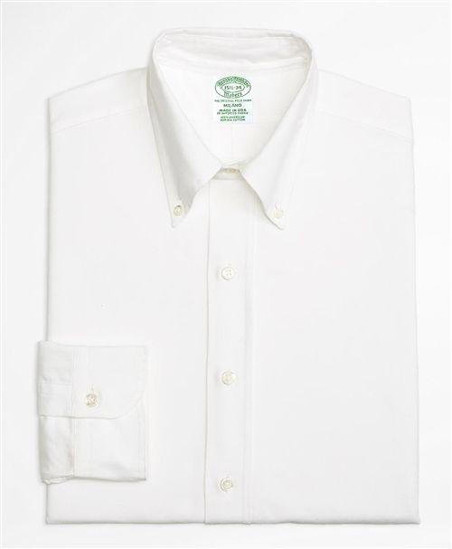 スーピマコットン オックスフォード ポロボタンダウン ドレスシャツ Milano Fit (ホワイト)|Brooks Brothers Japan(ブルックス ブラザーズ ジャパン)
