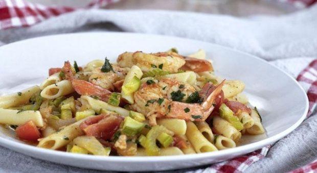 Πέννες με Γαρίδες σε σάλτσα από ντοματίνια cherry και λαχανικά