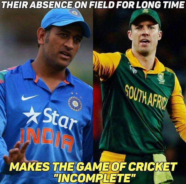 Fans missing MS Dhoni & AB de Villiers on cricket field - http://ift.tt/1ZZ3e4d