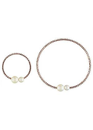 Diamante Pearl Necklace & Bracelet Set #kaleidoscope #jewellery