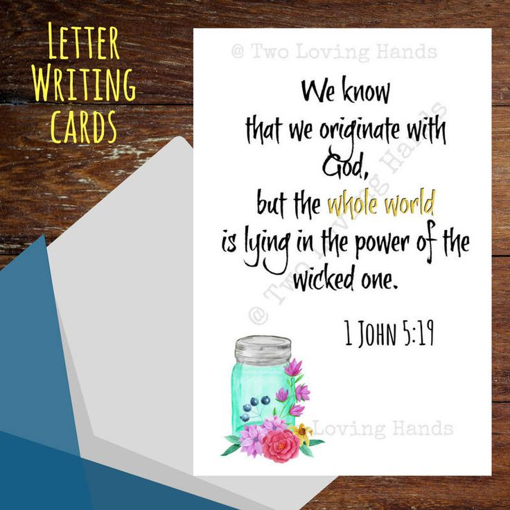 Letter writing cards, 1 John 5:19, jw cards, jw pioneer , jw gifts, Jehovah's Witness, return visit by twolovinghands on Etsy